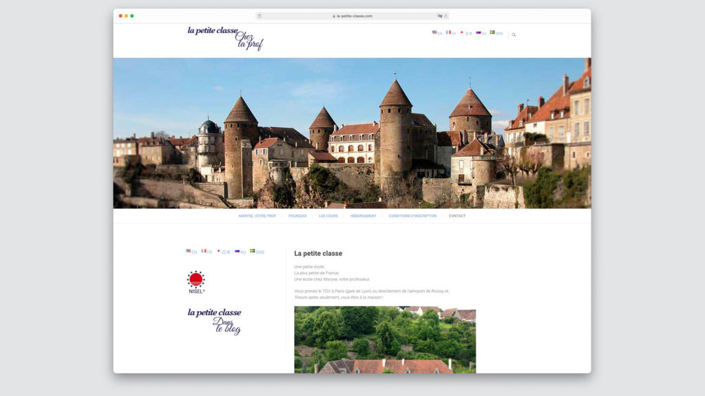 capture d'écran site internet navigateur